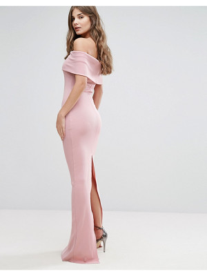 City Goddess Bandeau Maxi Dress With Split Detail