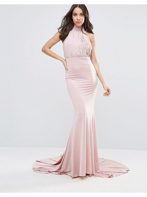 City Goddess Halterneck Fishtail Maxi Dress