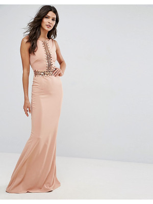 City Goddess Maxi Dress With Sequin Panel