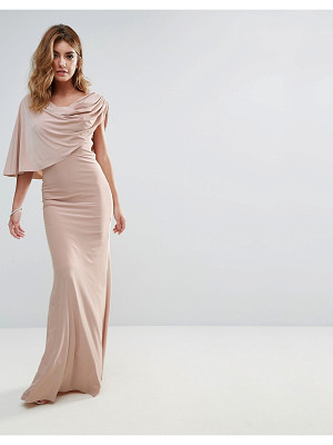 City Goddess One Shoulder Drape Maxi Dress