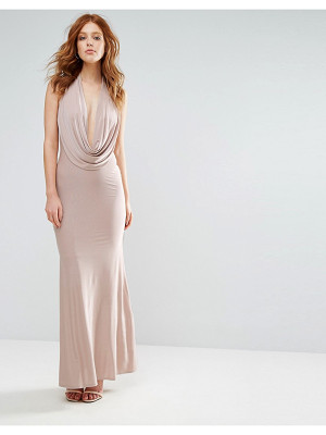 City Goddess Slinky Maxi Dress With Plunge Neck