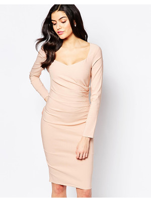 City Goddess SweetHeart Pencil Dress with Pleated Side Detail