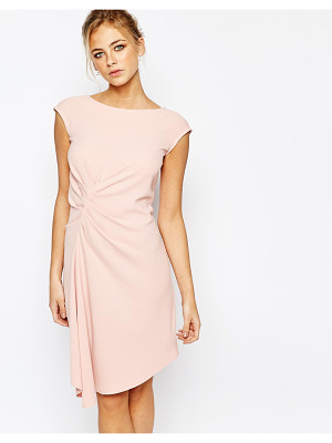 Closet Closet Midi Dress with Cap Sleeve and Gathers