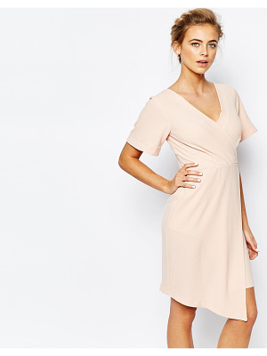 CLOSET Closet Wrap Front Midi Dress With Square Front