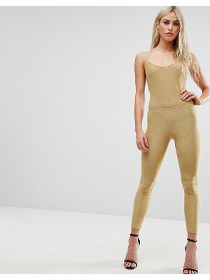 CLUB L All Over Metallic Jersey Legging