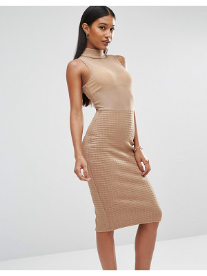 Club L Bandage Mesh Dress