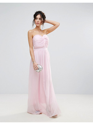 CLUB L Bridesmaid Chiffon Detail Knot Maxi Dress