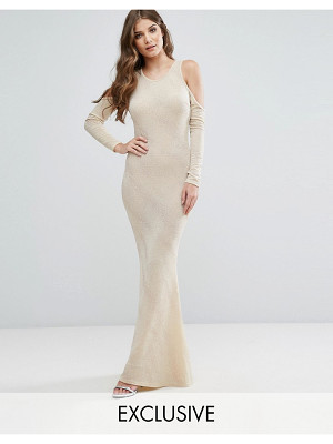 Club L Cold Shoulder Maxi Dress