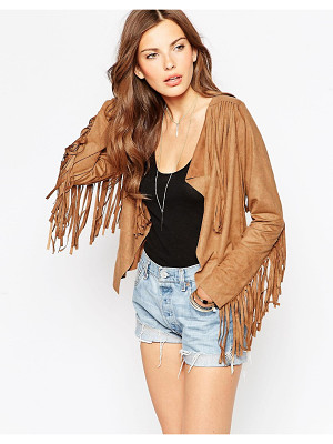 Club L Fringed Suedette Jacket