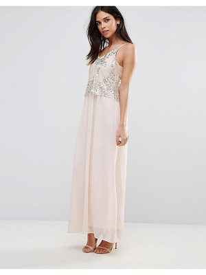 CLUB L Maxi Dress With Sequin Overlay