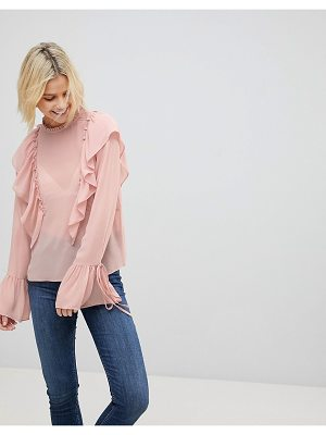 Cotton Candy LA frill detail top