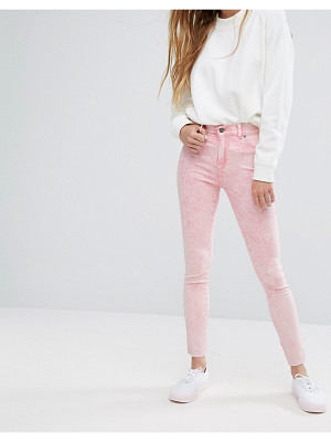Dr Denim plenty mid rise jeans with raw hem