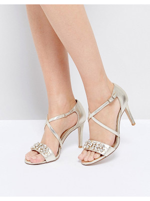 Dune London Gold Embellished Heeled Sandals