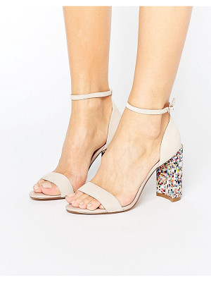 DUNE London Millions Multicolor Block Heeled Sandals