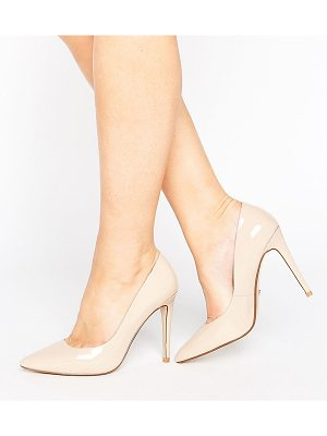 Dune Wide Fit Dune London Wide Fit Nude Patent Pumps