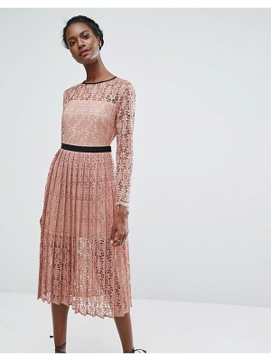 A L C Bobby Pleated Midi Skirt Nudevotion Com