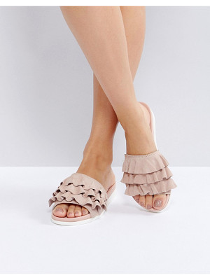 FAITH Blush Frill Flat Sandals
