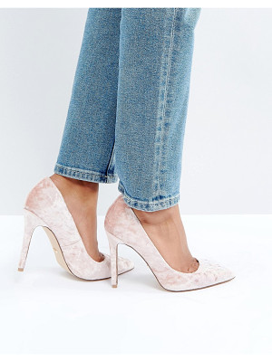Faith Cassidy Blush Velvet Pumps