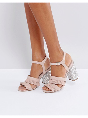 Faith Florence Suede Frill Heeled Sandals