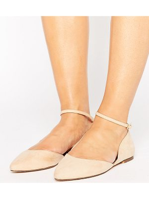 Faith Wide Fit Al Ankle Strap Flat Shoes