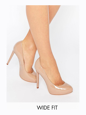 Faith Wide Fit Cadles Nude Platform Pumps