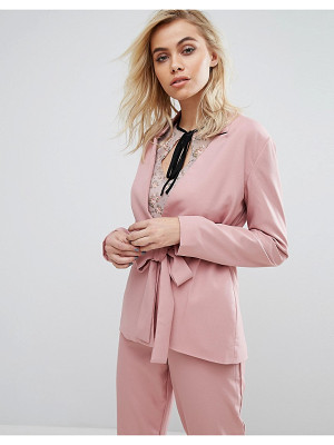 Fashion Union Blazer With Tie Front Co-Ord