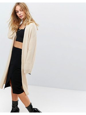FASHION UNION Longline Knitted Cardigan With Buckle Detail