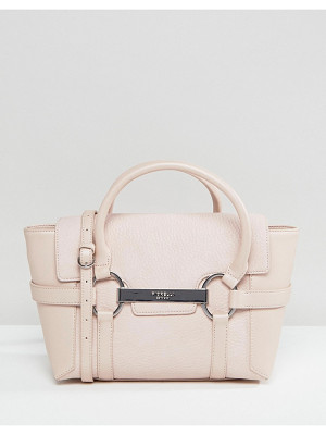 FIORELLI Barbican Mini Foldover Blush Tote Bag With Metal Bar Detail