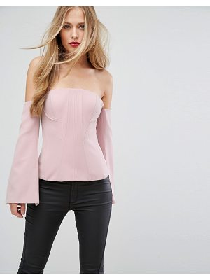 FOREVER NEW Going Out Structured Corset Top With Long Sleeves