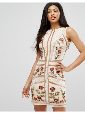Frock And Frill Floral Embellished Shift Dress