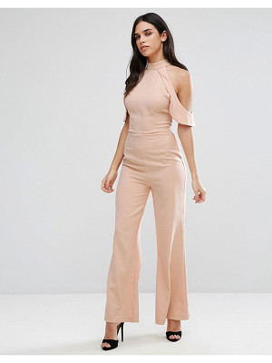 GIRL IN MIND Cold Shoulder Jumpsuit