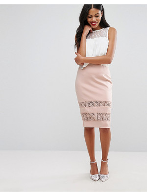 Girls on Film Girls On Film Pencil Skirt With Lace Panels