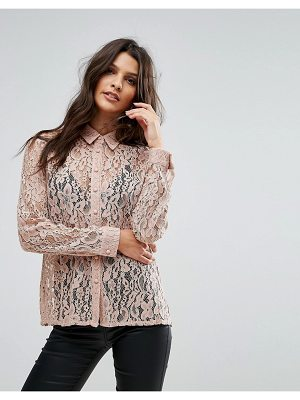 Goldie Hooked On You Rose Floral Lace Blouse