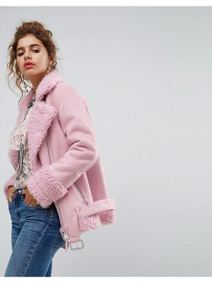 H BY HENRY HOLLAND H! By Henry Holland Oversized Faux Shearling Jacket