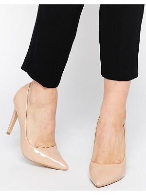 Head Over Heels By Dune Audrine Patent Nude Pumps