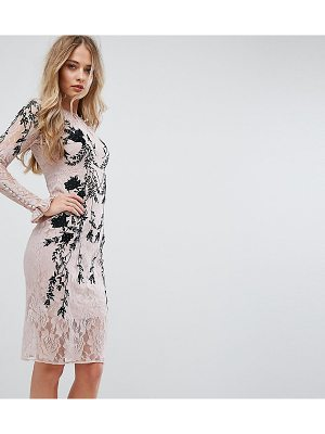 HOPE AND IVY Hope & Ivy Long Sleeve Embellished Backless Dress
