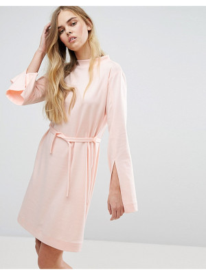 HOUSE OF SUNNY House Of Sunny Extra Long Sleeved Dress With Tie Waist