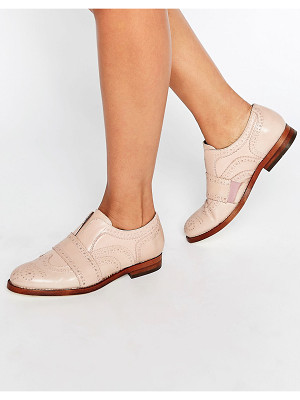 HUDSON Maddie Blush Leather Slip On Brogues