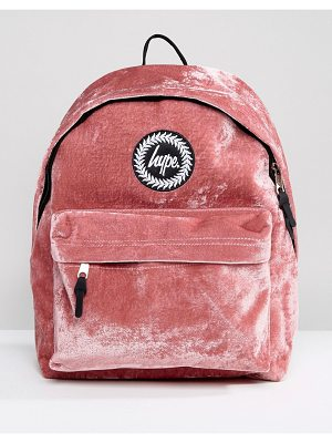 HYPE Exclusive Dusky Pink Velvet Backpack