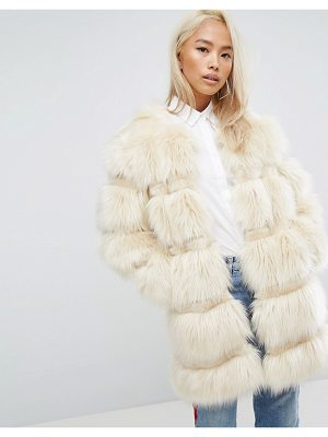 Jakke Longline Faux Fur Paneled Coat