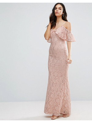 Jessica Wright Off The Shoulder Lace Maxi Dress