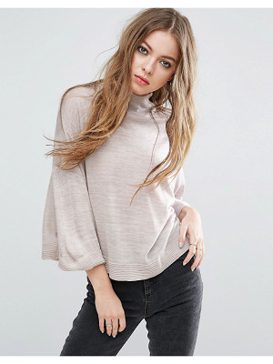 JOHN + JENN John & Jenn Hazel Kimono Sleeve Sweater With Back Zip