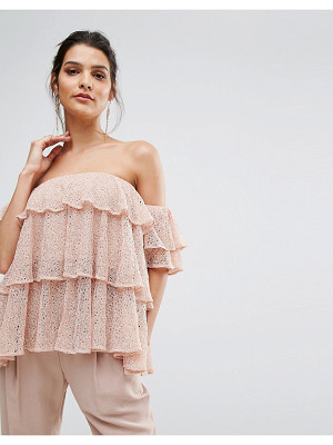 KEEPSAKE Wide Awake Off Shoulder Frill Top
