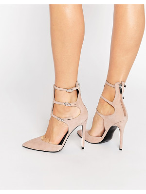 KENDALL + KYLIE Kendall & Kylie Alisha Nude Suede Caged Pointed Pumps