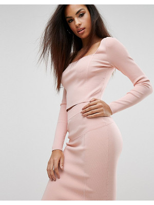 KENDALL + KYLIE Square Neck Long Sleeve Top