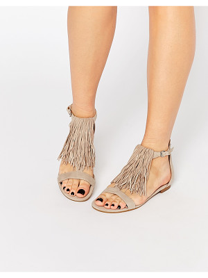 KENDALL & KYLIE Kendall & Kylie Tessa Suede Nude Fringe Flat Sandals