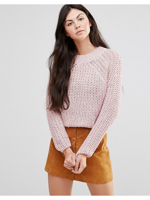Lavand Pink Cable Knit Sweater