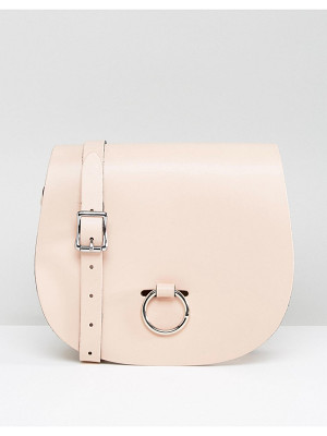 Leather Satchel Company Saddle Bag with Bull Ring Closure