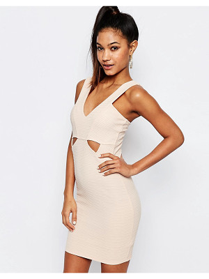 LIPSY Ariana Grande For  Ribbed Bodycon Cut Out Dress