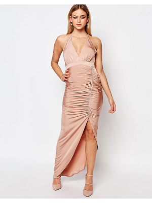 Lipsy Ariana Grande for  Slinky Halter Neck Ruched Dress